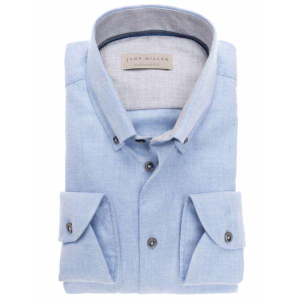 flanel l. blauw dress-shirt