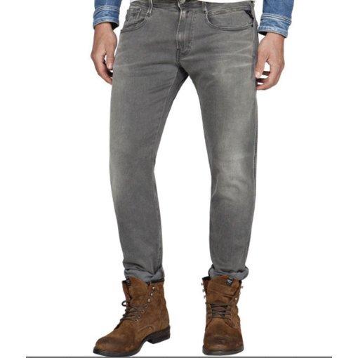Replay jeans hyperflex l. grijs