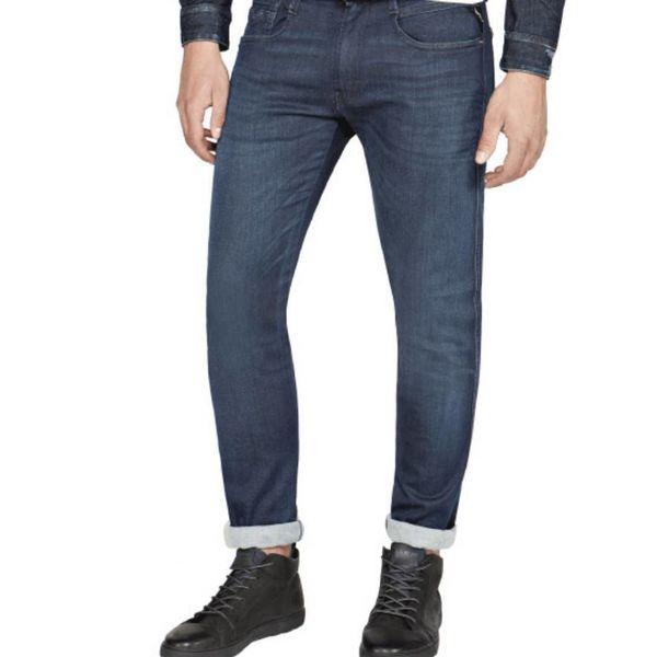 jeans hyperflex d. blauw