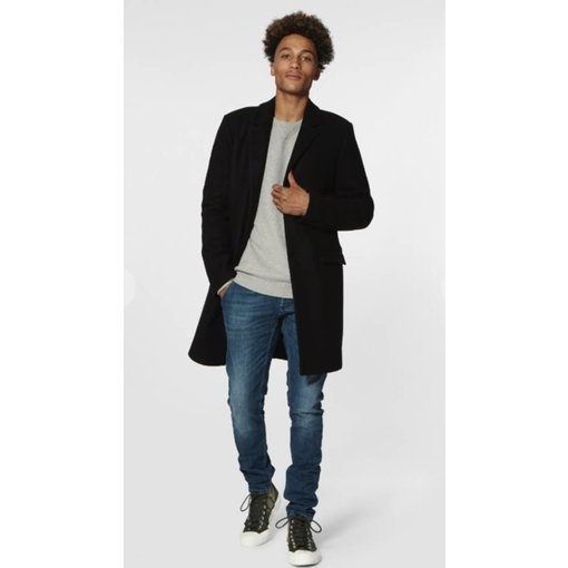 Denham mid. night blue coat