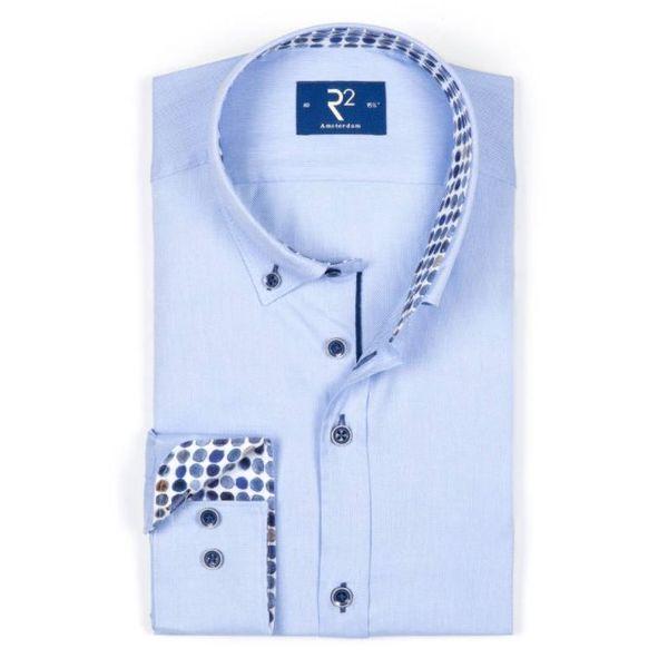 R2 l. blauw dress-shirt