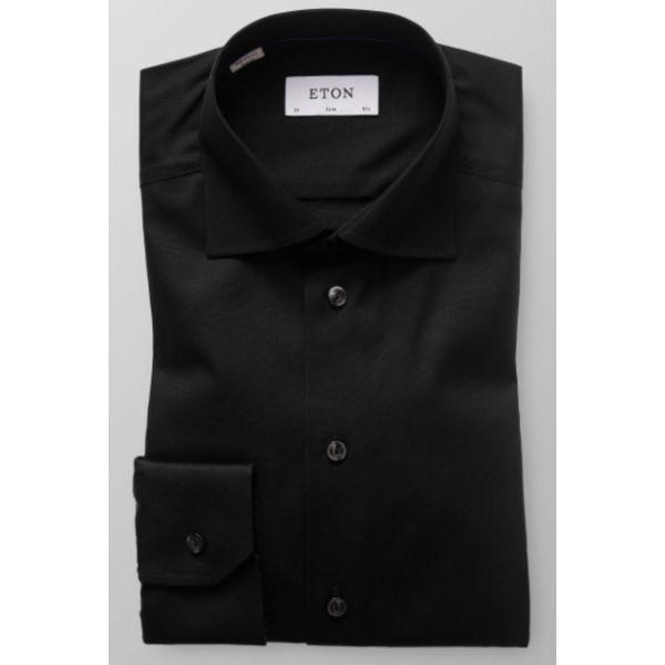 zwart uni dress-shirt