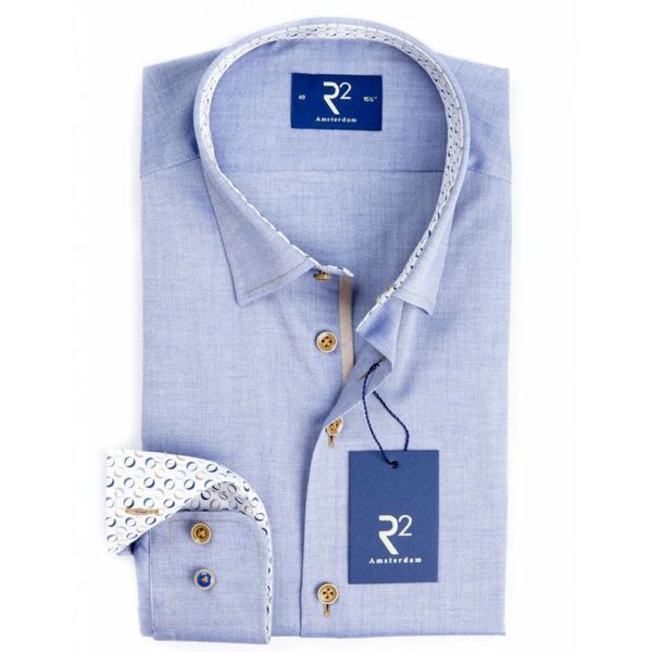 R2 dress shirt l. blauw