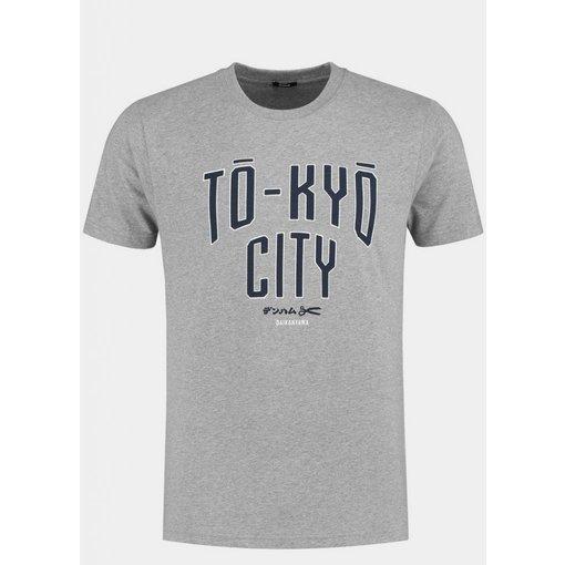 Denham denham t-shirt licht grijs