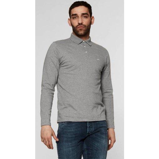 Denham polo shirt l. grijs