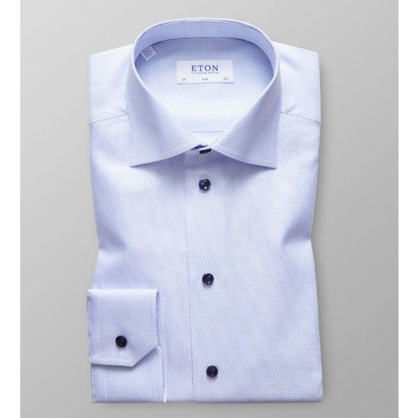 dress-shirt l. blauw oxford