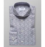 Eton dress-shirt l. blauw print slimfit