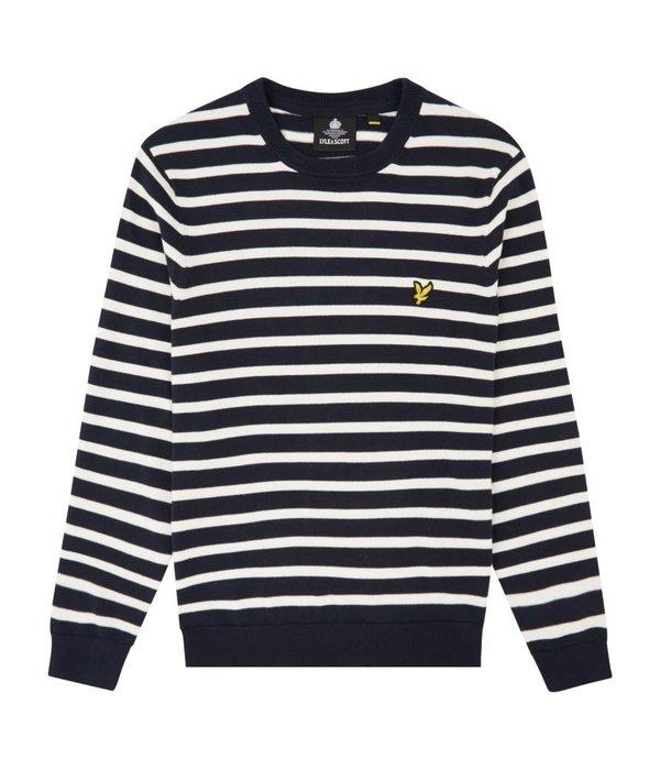 Lyle & Scott  kn1005v breton stripe jumper