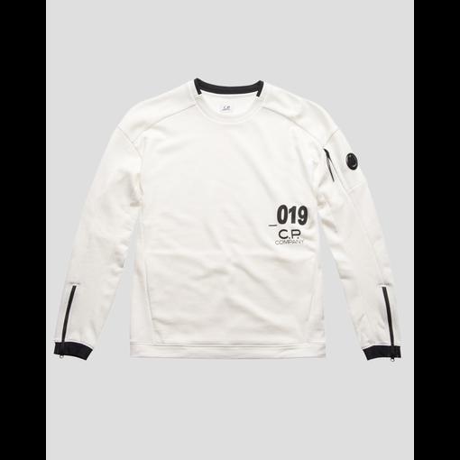 CP Company lens crew sweatshirt white