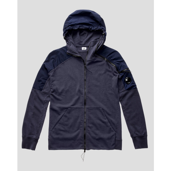 fleece hooded navy