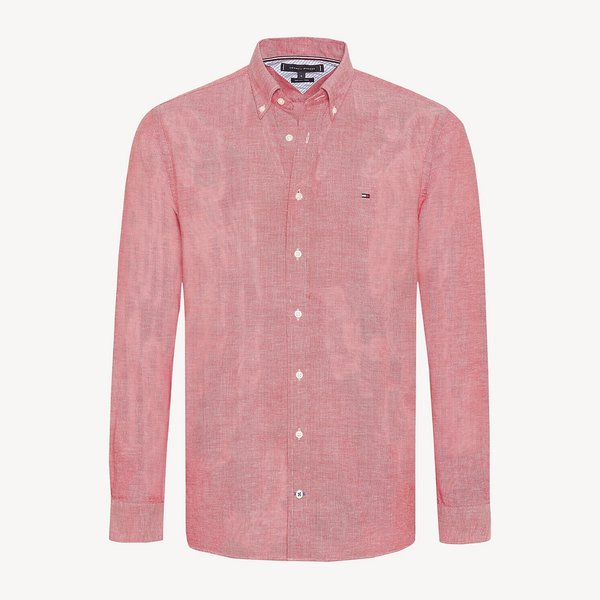 shirt melange linen