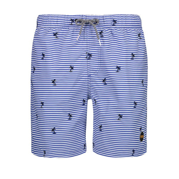 striped palm swimshort