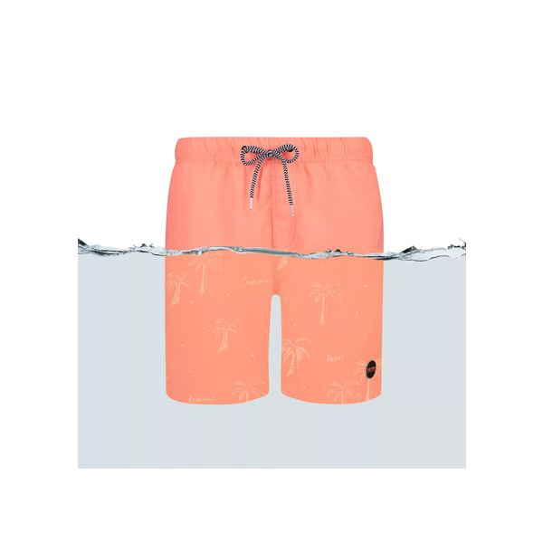 orange magic palmtree swimshort