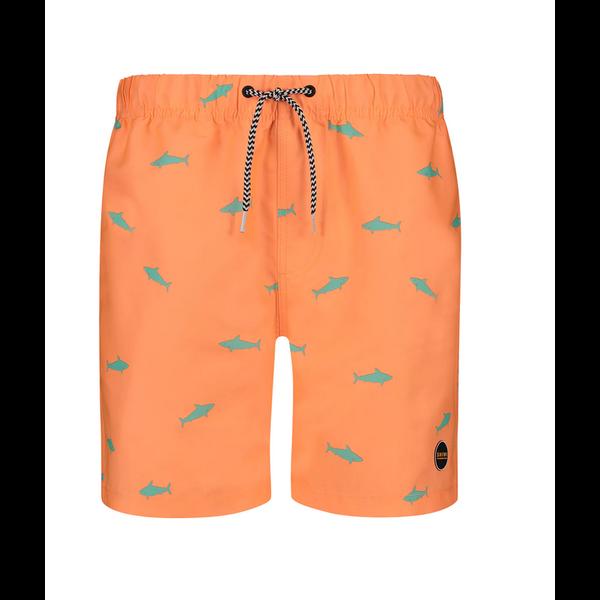 zwemshort oranje vis