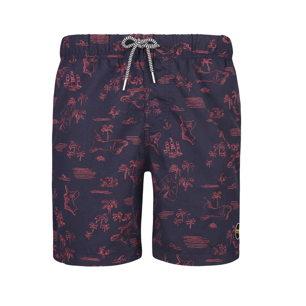 mid. blue shipwreck swimshort