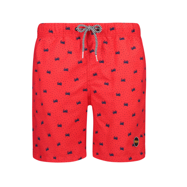 red crabby swimshort
