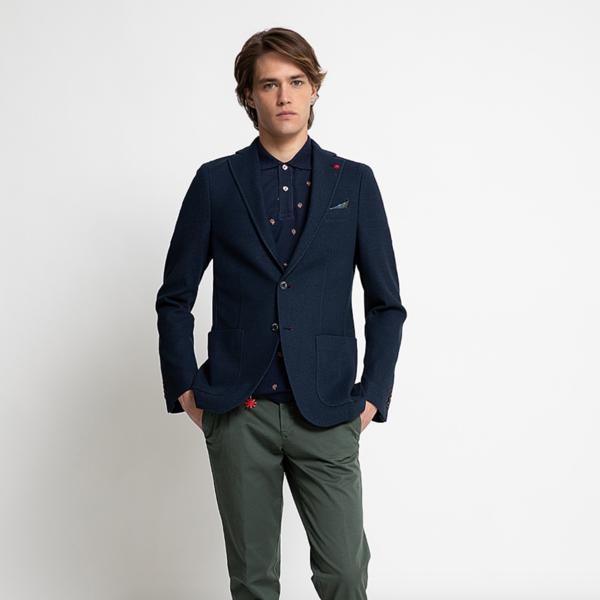 Manuel Ritz colbert d.blauw tricot
