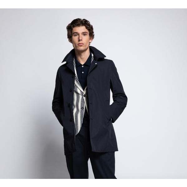 Manuel  Ritz coat d. blauw