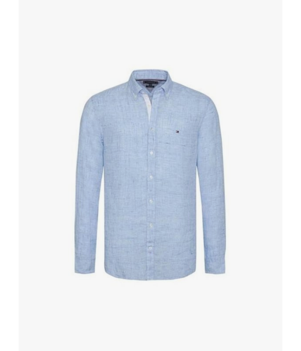 Tommy Hilfiger 09884 shirt melange linen slim