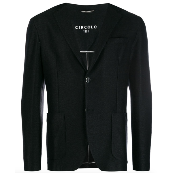 circolo colbert tricot zwart