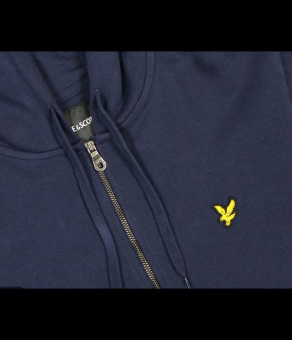 Lyle & Scott l&s zip through hoodie z99 navy