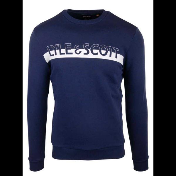 logo crew neck sweatshirt, 2 Kleuren