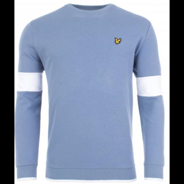tipped crew neck sweatshirt, 2 kleuren