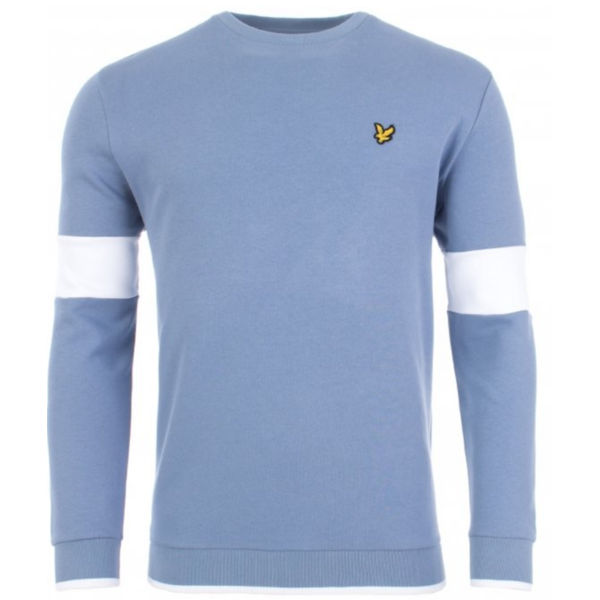 tipped crew neck sweatshirt