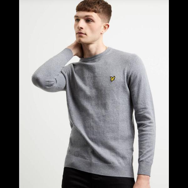 crew neck cotton/merino trui, 7 kleuren