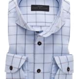 John Miller dress-shirts ruit l. blauw tf