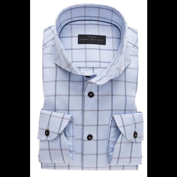 dress-shirts ruit l. blauw