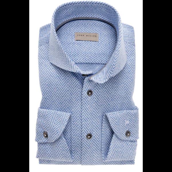 dress-shirts structuur l. blauw