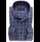 John Miller dress-shirt ruit d. blauw tf