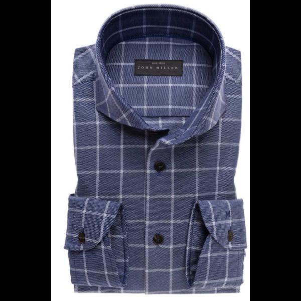dress-shirt ruit d. blauw