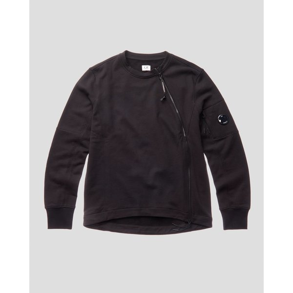 diagonal raised fleece sweater, 2 kleuren