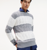 Tommy Hilfiger th block striped cable sweater 11688