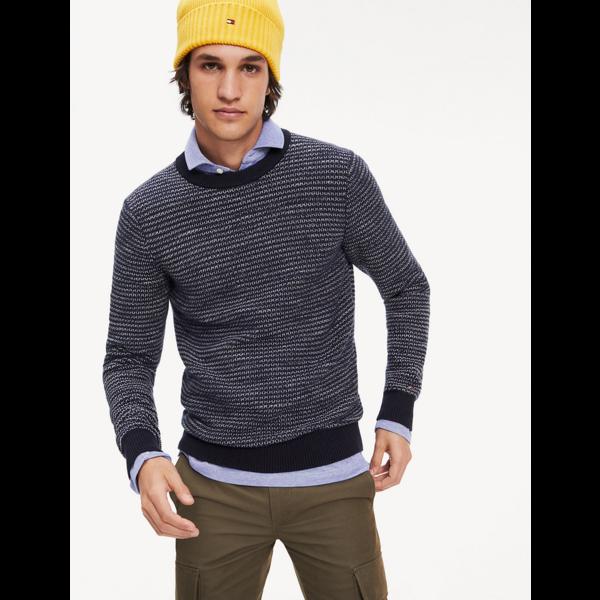 honeycomb slub sweater