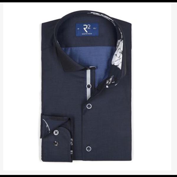 R2 dress-shirt  d. blauw