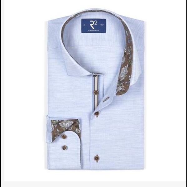 R2 dress-shirt l. blauw