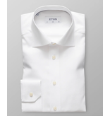 Eton dress-shirt wit fijne structuur slimfit
