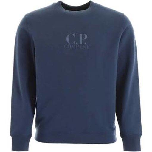 CP Company logo sweater mid. blue