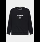 Denham logo sweater zwart