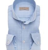 John Miller dress-shirt l. blauw ruit tf