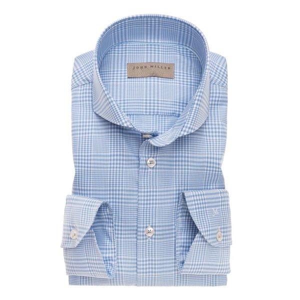 dress-shirt l. blauw ruit