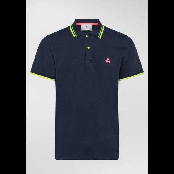 polo -shirts  met fluor details, div. kleuren