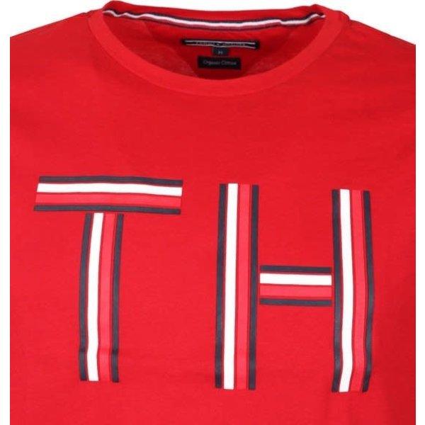 logo t-shirt rood