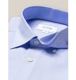 Eton dress-shirt l. blauw, fijne structuur slimfit