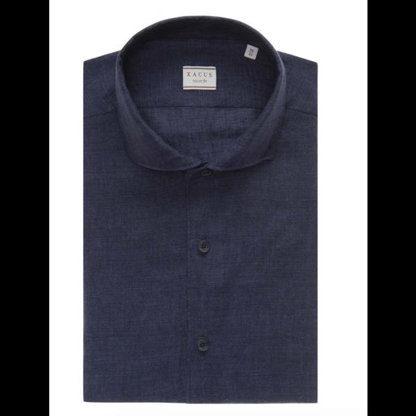 linnen shirt d. blauw