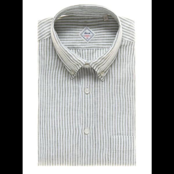 linnen shirt streep groen