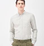 XACUS linnen shirt streep groen